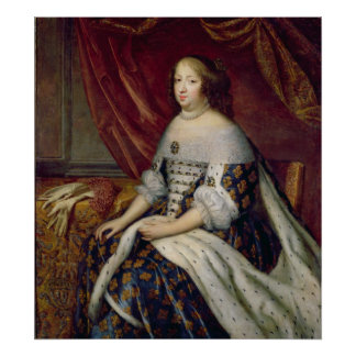 Portrait of Anne of Austria  Queen of France Poster