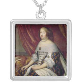 Portrait of Anne of Austria  Queen of France Silver Plated Necklace