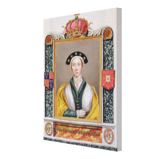 Portrait of Anne of Cleves (1515-57) 4th Queen of Canvas Print
