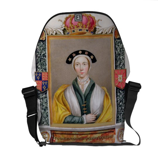 Portrait of Anne of Cleves (1515-57) 4th Queen of Messenger Bag