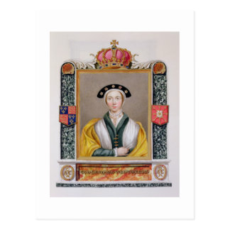 Portrait of Anne of Cleves (1515-57) 4th Queen of Postcard