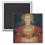 Portrait of Anne of Cleves  1539 2 Inch Square Magnet