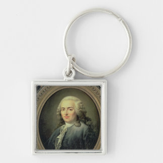 Portrait of Anne-Robert-Jacques Turgot  1726 Silver-Colored Square Keychain