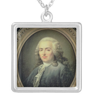 Portrait of Anne-Robert-Jacques Turgot  1726 Silver Plated Necklace