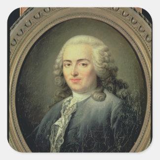 Portrait of Anne-Robert-Jacques Turgot  1726 Square Sticker