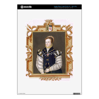 Portrait of Anne Russell (d.1604) Countess of Warw Skins For iPad 3