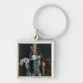 Portrait of Anne Savary  Duke of Rovigo, 1814 Silver-Colored Square Keychain