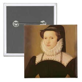 Portrait of Anne Waltham, 1572 Pinback Button