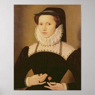 Portrait of Anne Waltham, 1572 Poster