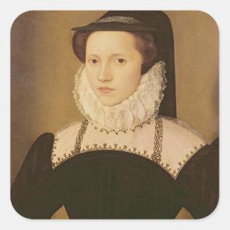 Portrait of Anne Waltham, 1572 Square Sticker