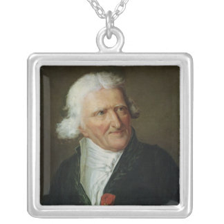 Portrait of Antoine Augustin Parmentier Silver Plated Necklace