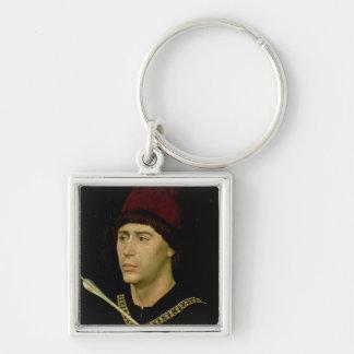 Portrait of Antoine  bastard of Burgundy Keychain