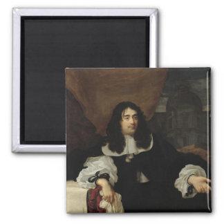 Portrait of Antoine de Ratabon, 1660 2 Inch Square Magnet