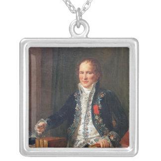 Portrait of Antoine Francois de Fourcroy Silver Plated Necklace