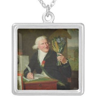 Portrait of Antoine Parmentier  1812 Silver Plated Necklace