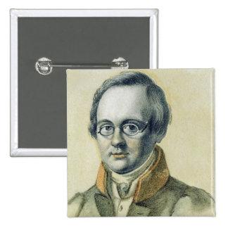 Portrait of Anton A. Delvig, 1830 Pinback Button