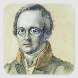 Portrait of Anton A. Delvig, 1830 Square Sticker