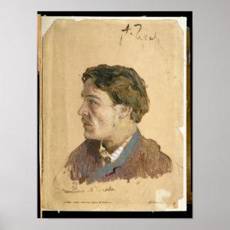 Portrait of Anton Chekhov Posters