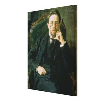 Portrait of Anton Pavlovich Chekhov, 1898 Canvas Print