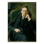 Portrait of Anton Pavlovich Chekhov, 1898 Greeting Card