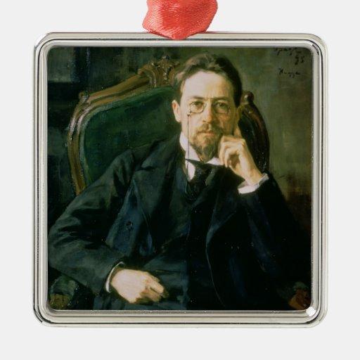 Portrait of Anton Pavlovich Chekhov, 1898 Christmas Tree Ornaments