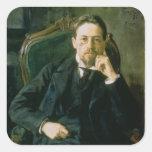 Portrait of Anton Pavlovich Chekhov, 1898 Stickers