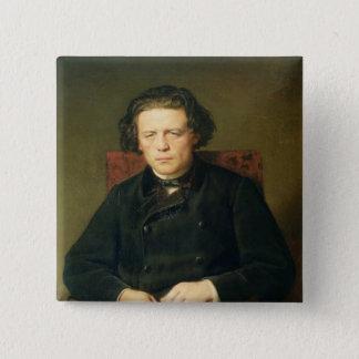 Portrait of Anton Rubinstein  1870 Pinback Button