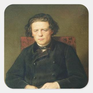 Portrait of Anton Rubinstein  1870 Square Sticker