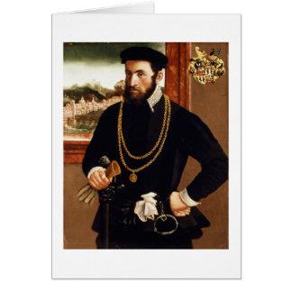 Portrait of Anton Rummel von Liechtenan Card