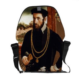 Portrait of Anton Rummel von Liechtenan Courier Bag