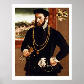 Portrait of Anton Rummel von Liechtenan Poster