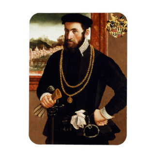 Portrait of Anton Rummel von Liechtenan Rectangular Photo Magnet