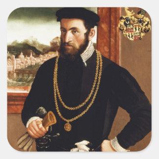 Portrait of Anton Rummel von Liechtenan Square Sticker