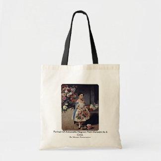 Portrait Of Antonietta Negroni Prati Morosini Canvas Bag