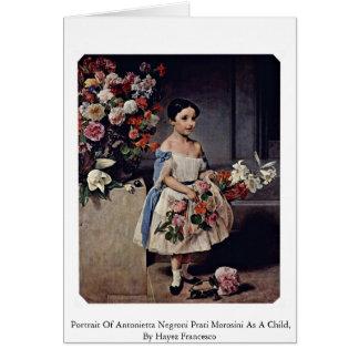 Portrait Of Antonietta Negroni Prati Morosini Greeting Card