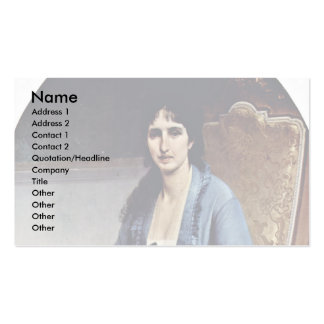 Portrait Of Antonietta Negroni Prati Morosini Oval Business Card Templates