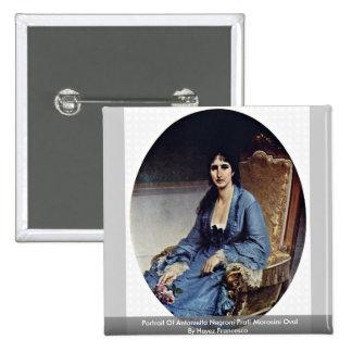 Portrait Of Antonietta Negroni Prati Morosini Oval Button
