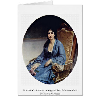 Portrait Of Antonietta Negroni Prati Morosini Oval Greeting Card