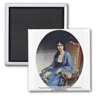 Portrait Of Antonietta Negroni Prati Morosini Oval Magnet