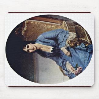 Portrait Of Antonietta Negroni Prati Morosini Oval Mouse Pad
