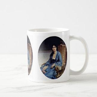 Portrait Of Antonietta Negroni Prati Morosini Oval Coffee Mug