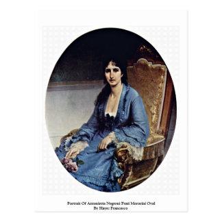 Portrait Of Antonietta Negroni Prati Morosini Oval Postcard