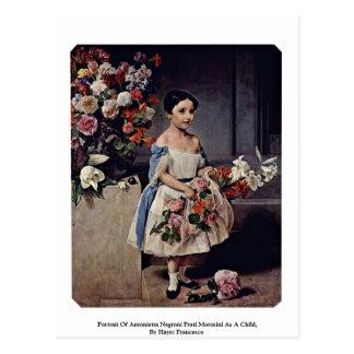 Portrait Of Antonietta Negroni Prati Morosini Postcard