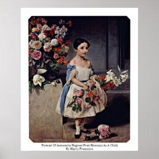 Portrait Of Antonietta Negroni Prati Morosini Posters