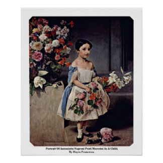 Portrait Of Antonietta Negroni Prati Morosini Print