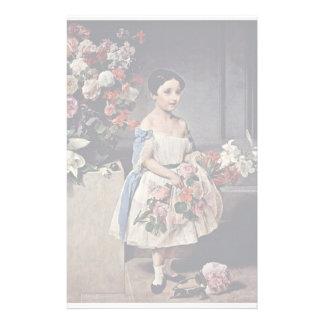 Portrait Of Antonietta Negroni Prati Morosini Stationery Paper