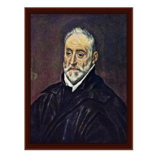 Portrait Of Antonio Covarrubias By Greco El Postcard