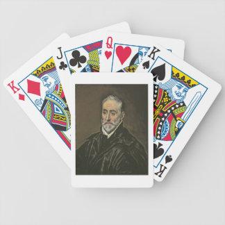 Portrait of Antonio de Covarrubias y Leiva (1514-1 Bicycle Playing Cards