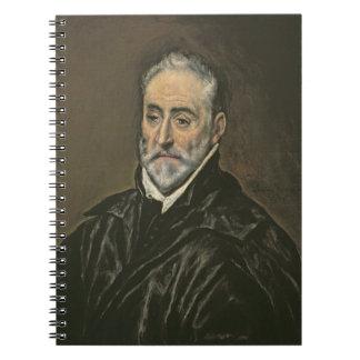 Portrait of Antonio de Covarrubias y Leiva (1514-1 Notebook
