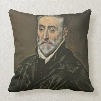 Portrait of Antonio de Covarrubias y Leiva (1514-1 Throw Pillow